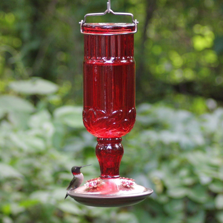 Pl Plastic Bottle Bird Feeder Instructions - Amazon com perky pet 8119 2 red antique bottle hummingbird feeder wild bird feeders patio lawn garden