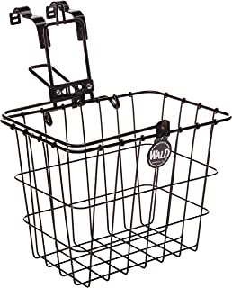 product image for Wald 3114 Compact Front Quick Release Bicycle Basket with Bolt on Clamp (11.75 x 8 x 9, Black)