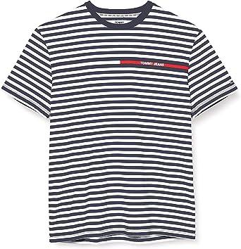 Tommy Hilfiger TJM Stripe tee Camisa para Hombre: Amazon.es: Ropa y accesorios