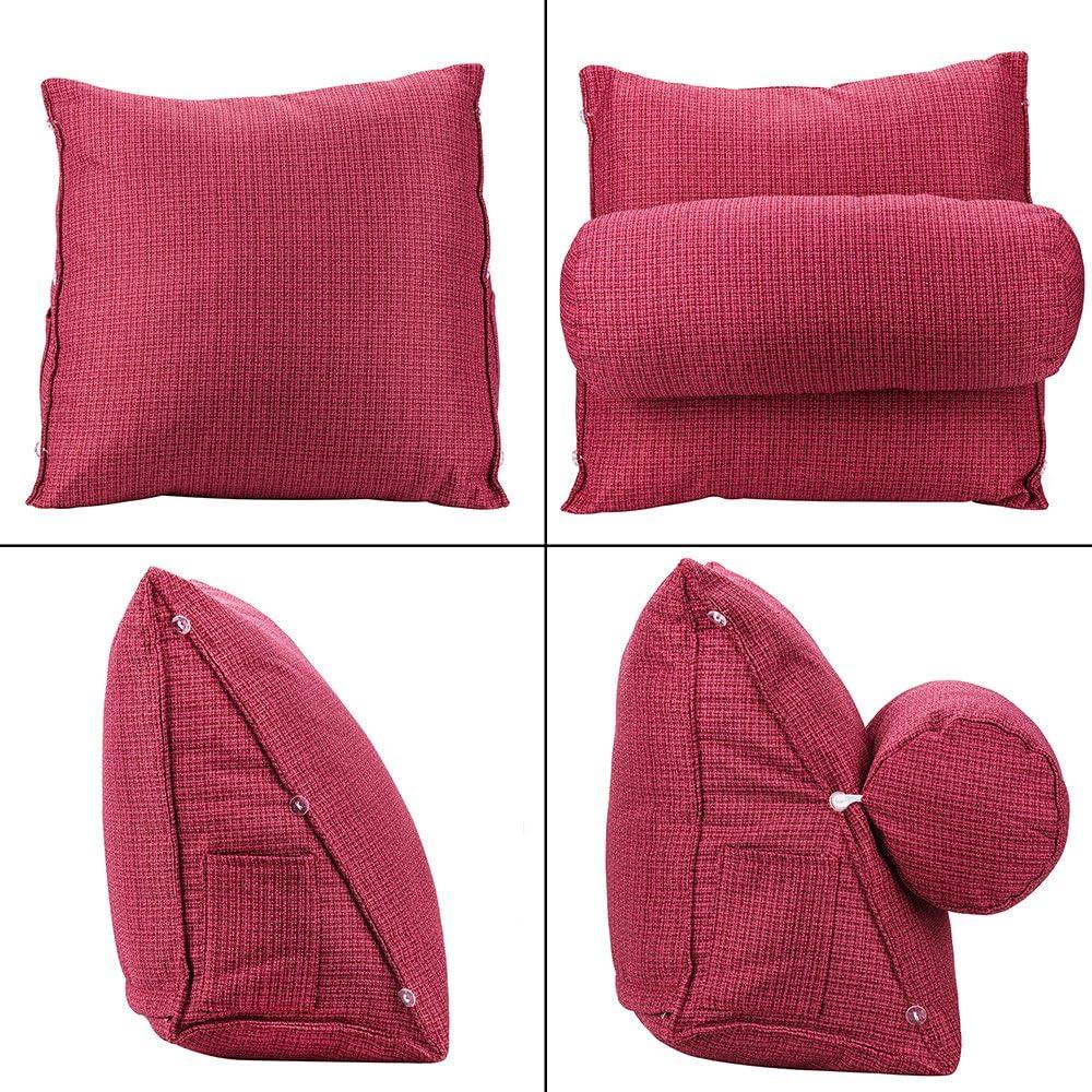 HALOVIE Verstellbare R/ücken Keil Kissen 47 x 45 x 23 Sofa Bett B/ürostuhl Rest Kissen Nacken Unterst/ützung Kissen Perle Wolle