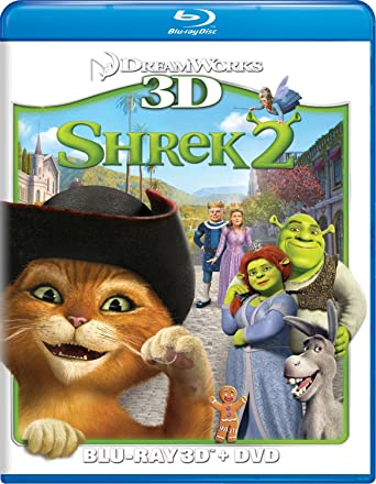 Amazon Com Shrek 2 Two Disc Blu Ray 3d Dvd Combo Mike Myers