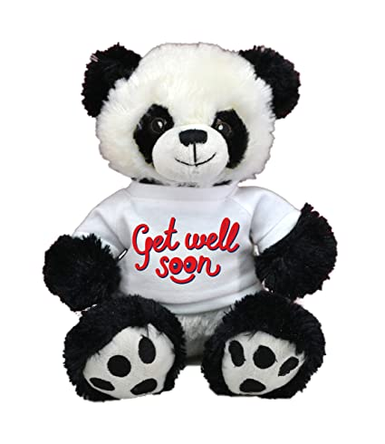 Panda Pre-Customized GET Well Soon Cute Squishmallow Limited Edition Plush Pillow,Plush Animal Best for Visits,Hospital Sick Present