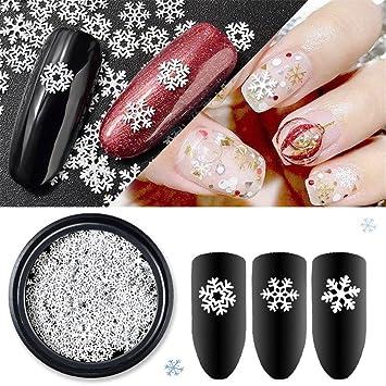 Amazon 1 Box Snowflake Steam White Parts Style Nail Studs 3d