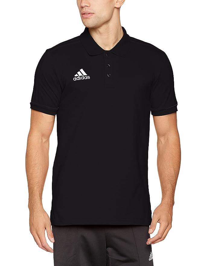 adidas Tiro17 Cotton Polo Poloshirt Homme, Blanc/Noir, FR : S (Taille Fabricant : S)