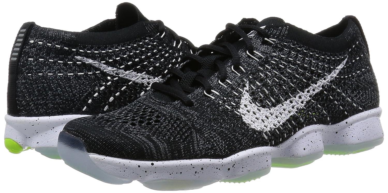 apoyo Asociación análisis  Buy Nike Women's Flyknit Zoom Agility Black/White/Dark Grey/Volt Training  Shoe 6 at Amazon.in