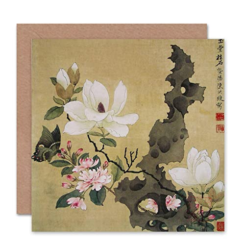 Japanese christmas cards amazon wee blue coo greetings card birthday gift chen hongshou leaf japanese art m4hsunfo