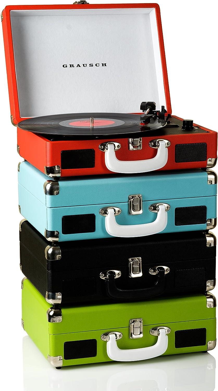Grausch RPS101 tocadisco vinilo maleta portátil con 2 altavoces ...