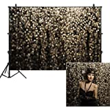 Allenjoy 7x5ft Gold Bokeh Spots Backdrop for Selfie Birthday Party Pictures Photo Booth Shoot Graduation Prom Dance…