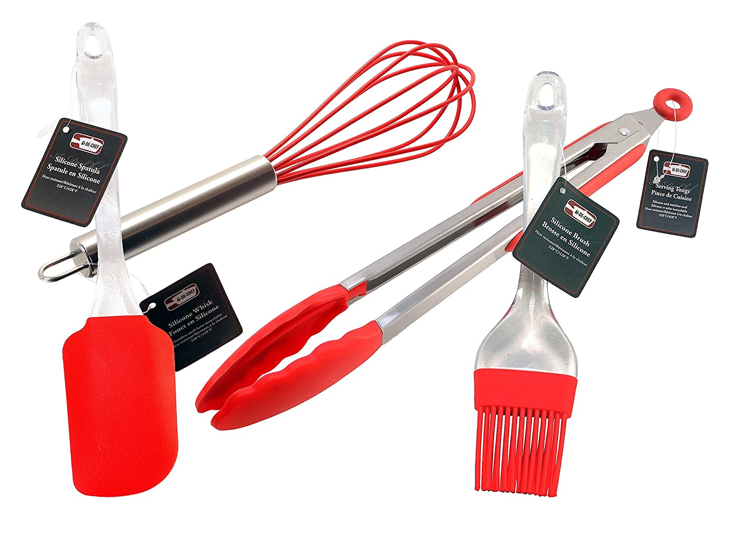 10 Whisk 1-Pack, 10 Whisk Stainless Steel /& Silicone Kitchen Utensils for Blending 10 Silicone Whisk SYMAK Heat Resistant up to 428/ºF Beating /& Stirring Whisking By Ai-De-Chef