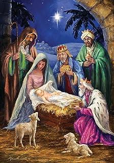 briarwood lane nativity religious christmas garden flag holiday baby jesus 125