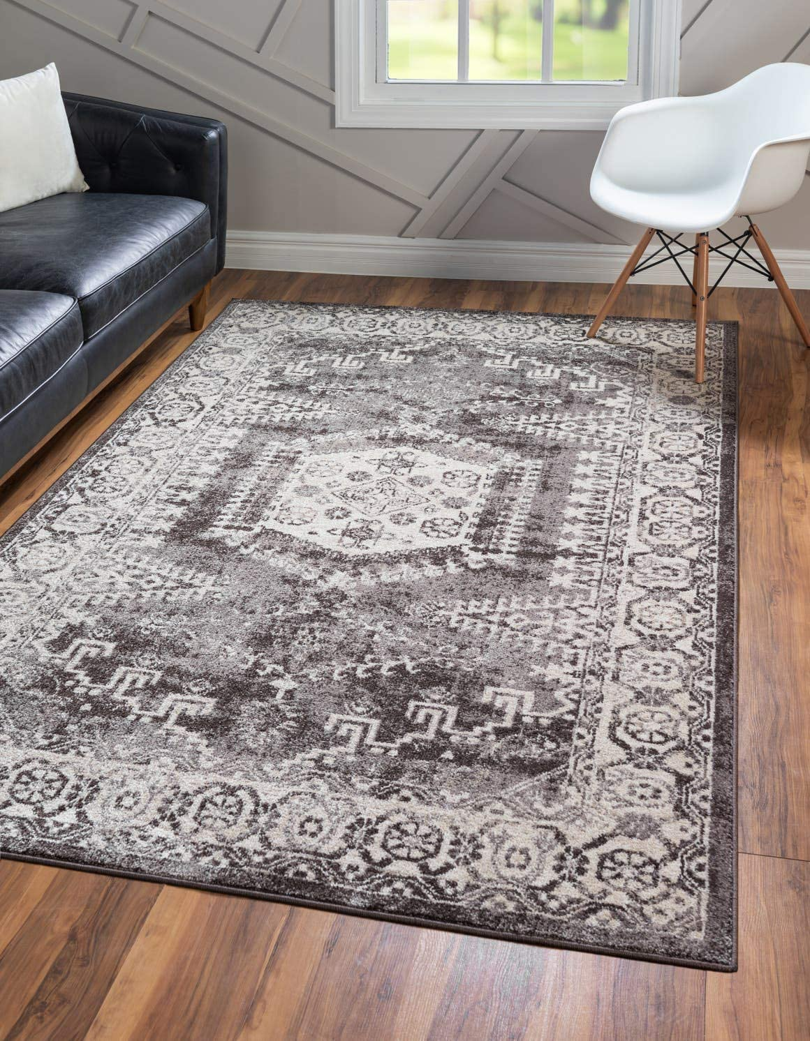 Unique Loom Utopia Collection Traditional Geometric Tribal Warm Tones Dark Brown Area Rug 2 2 x 3 0