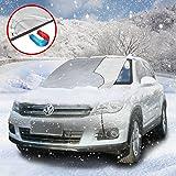 Protezione parabrezza antighiaccio con, Auto Copertura Parasole Invernale Anti-Gelo per Magnetic Parabrezza neve, adatto per la maggior parte dei veicoli (Magnetico ; 215 x 125cm)