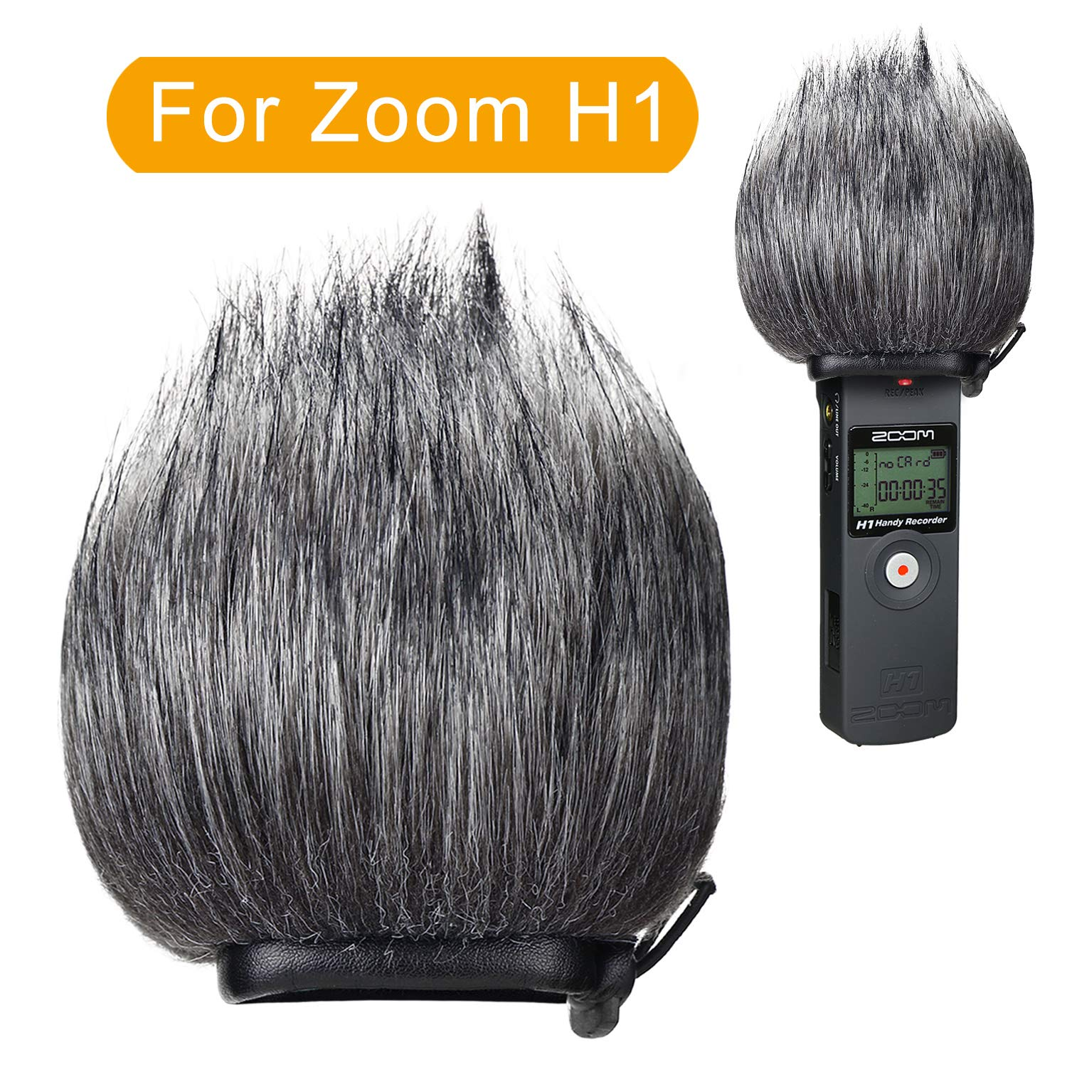 YOUSHARES Furry Outdoor Windscreen Muff, Pop Filter/Wind Cover Shield for Zoom H5, H6 Portable Recorder Heartorigin 2