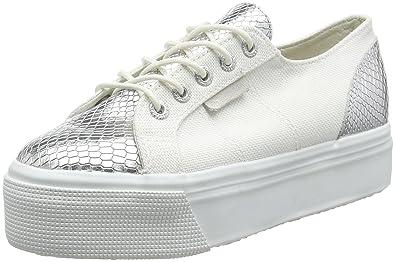 Superga 2790 Netw, Unisex Erwachsene Platform Sneakers, Silber, 37 EU