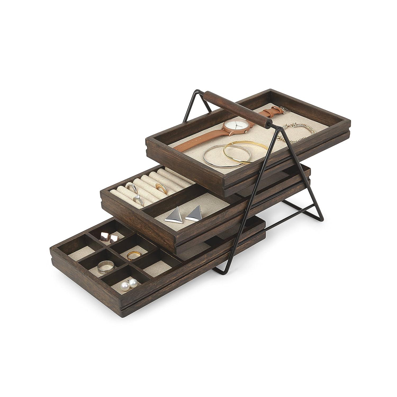 tiered jewelry organizing tray