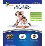 Four Seasons Essentials Queen Mattress Protector Bedbug Waterproof Zippered Encasement Hypoallergenic Premium Quality…