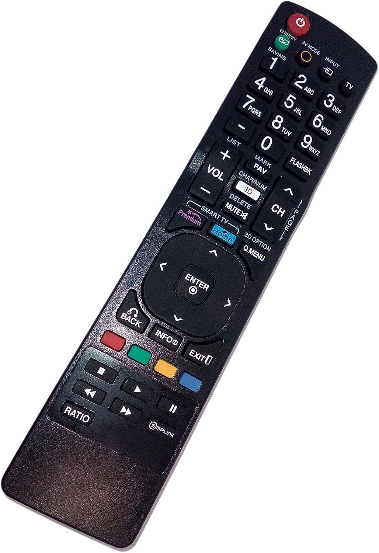 Sustituir mando a distancia compatible para LG 42lk530-uc 42lv3700-ud 47lk550-ua 55lv5400ub LCD LED Smart TV: Amazon.es: Electrónica