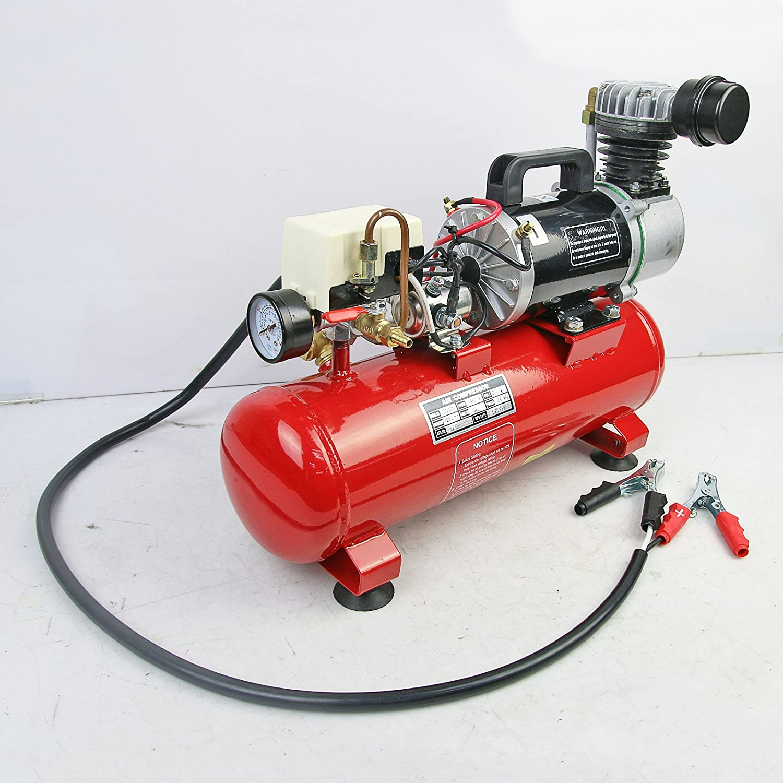 Yosoo 150psi 12V Compresor de Aire Port/átil con Bomba de Inflado de Neum/ático de Tanque de 6 Litros para Corneta de Aire Tren Cami/ón RV Neum/ático