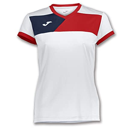 Joma Teamwear T-Shirt Short Sleeves Crew II Womens White-Red