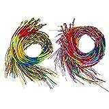 Fulltime(TM) 100Pcs Wholesale Jewelry Lot Braid Strands Friendship Cords Handmade Bracelets (100 Pcs) aRHlPDBa