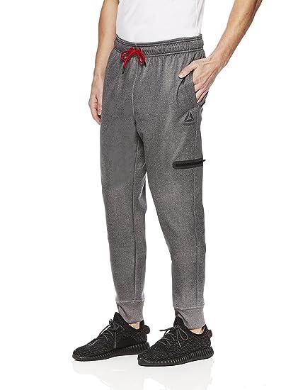 54ba6cd3a9 Reebok Men's Jogger Running Pants with Zipper Pockets - Athletic Workout  Sweatpants