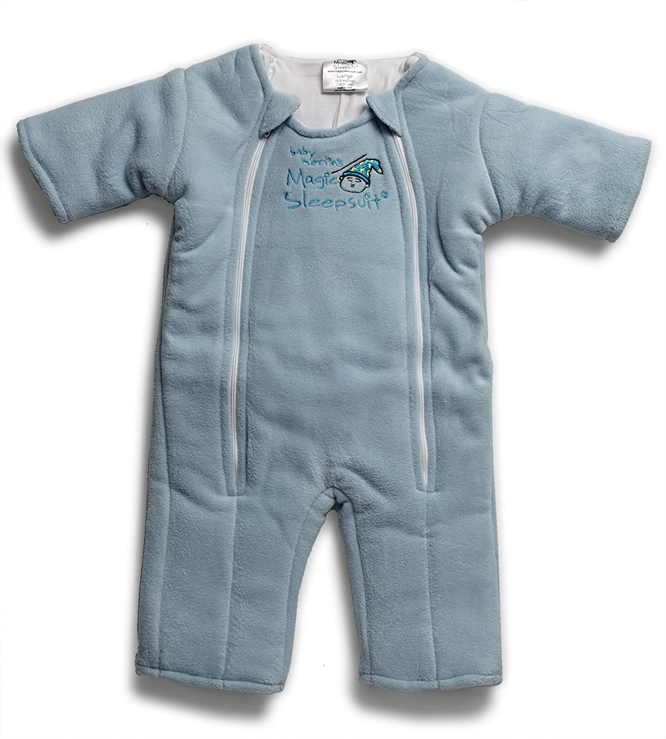 Baby Merlin's Magic Sleepsuit - Swaddle Transition Product - Microfleece - Blue - 6-9 months: Baby