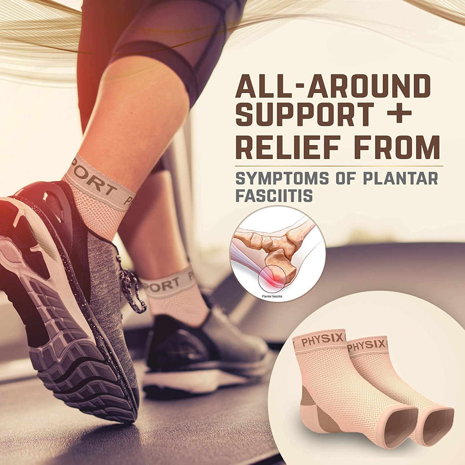 Plantar Fasciitis Socks with Arch Support for Men & Women - Best 24/7 Compression Socks Foot Sleeve for Aching Feet & Heel Pain Relief - Washes Well, Holds Shape & Better Than a Night Splint : Sports & Outdoors