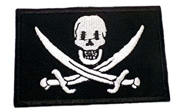 Amazon.com: jolly rogers skull pirate patch funny saying text words
