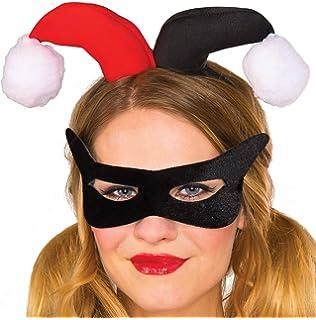 8d069e5ec31a Rubie s Women s DC Comics Harley Quinn Eye Mask and Headpiece