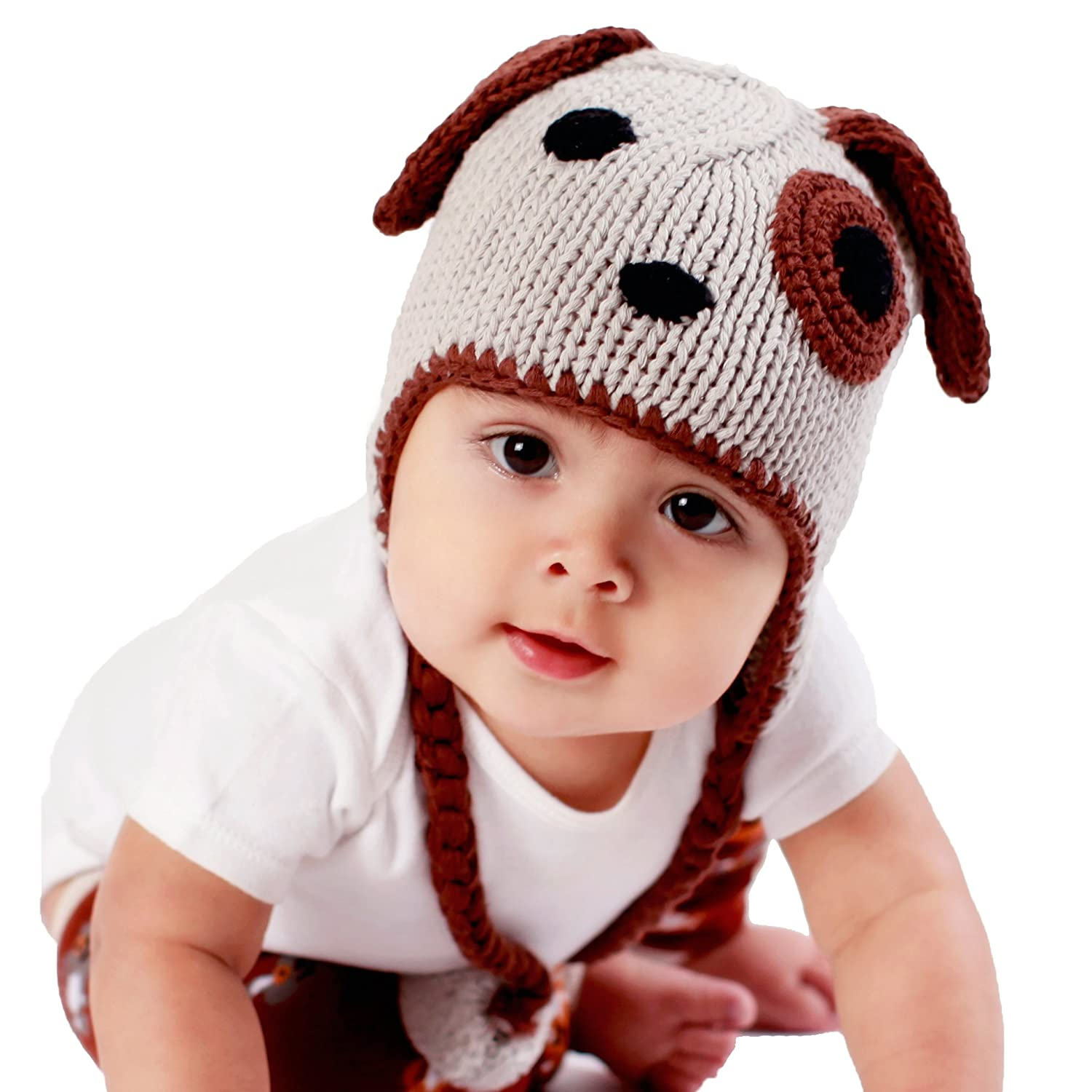 c886384bfc7 Amazon.com  Huggalugs Baby and Toddler Boys or Girls Puppy Dog Beanie Hat  or Separate Legwarmers  Clothing