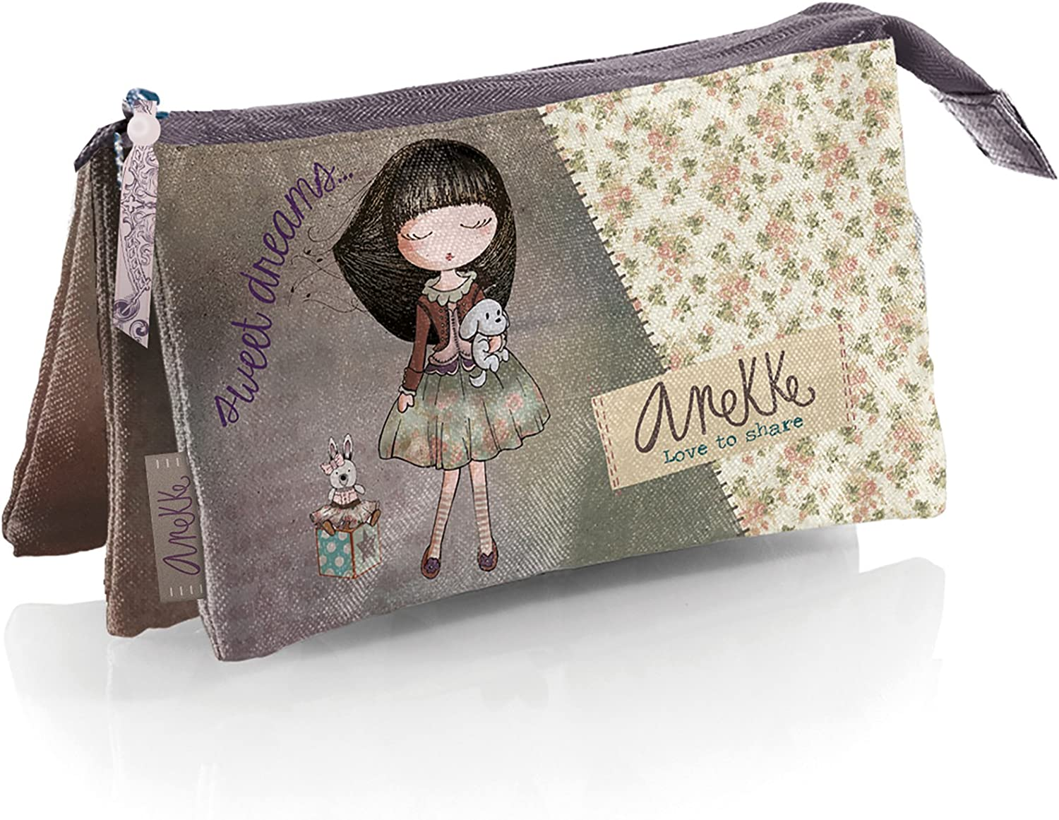 Anekke Cozy - Portatodo triple, 225 x 115 x 20 mm, multicolor: Amazon.es: Ropa y accesorios
