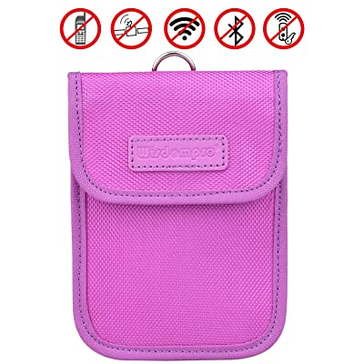 RFID Key Fob Protector, Wisdompro RF Signal Shielding Pouch Bag for Car Key FOB (Purple)