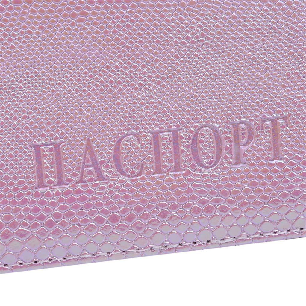 SEVENHOPE L/ézard Brillant Grain Couvercle Du Passeport Sac De Passeport Affaire Accessoires De Voyage