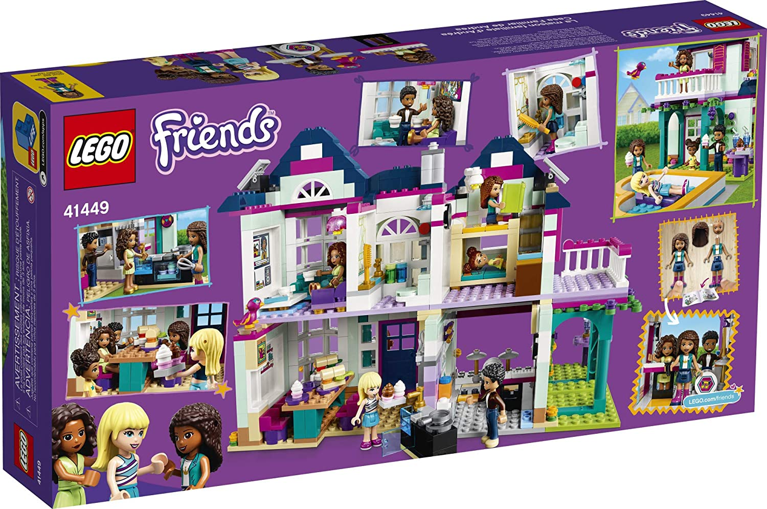802 Pieces LEGO Friends Andreas Family House 41449 Building Kit; Mini-Doll Playset is Great Gift for Creative 6-Year-Old Kids New 2021