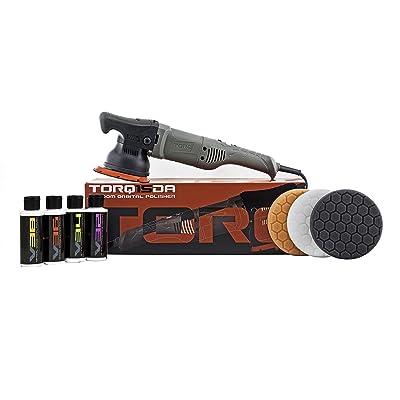 Torq BUF505X TORQ15DA 15mm Long-Throw Random Orbital Polisher Kit (8 Items): Automotive