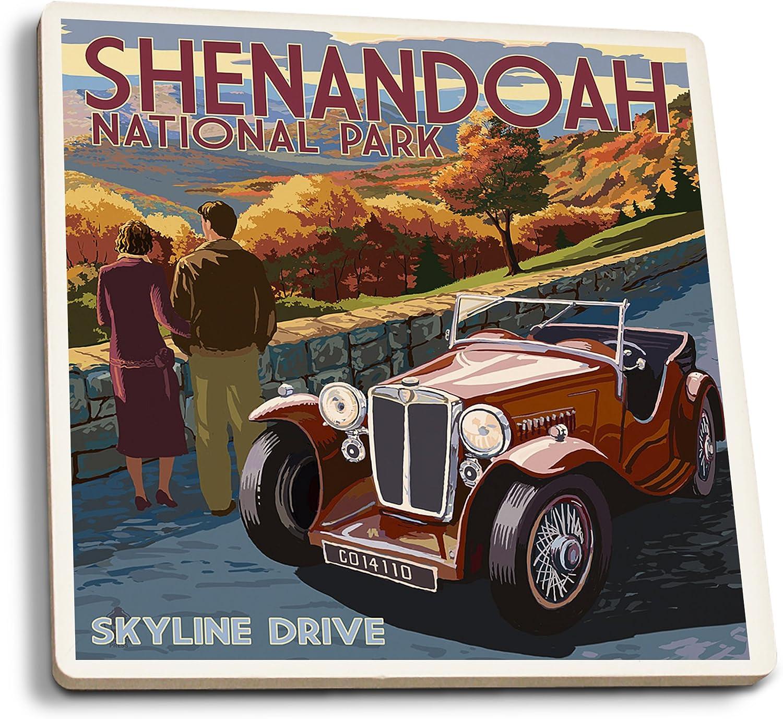 Shenandoah National Park Virginia VA Low Profile Cork Coasters