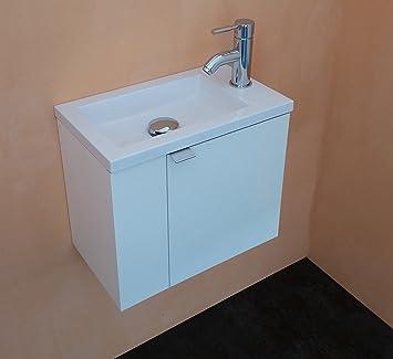 arredo bagno mobile bagno da cm 43 con lavabo/lavamani/lavandino ... - Lucido Cabinet Grigio Lavandino