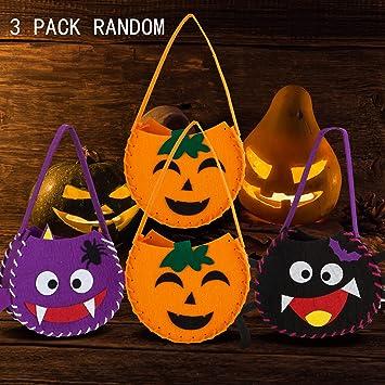 3 PACK Halloween Pumpkin DIY Basket Kids Trick or Treat Bag for Halloween Party Costumes: Amazon.es: Juguetes y juegos
