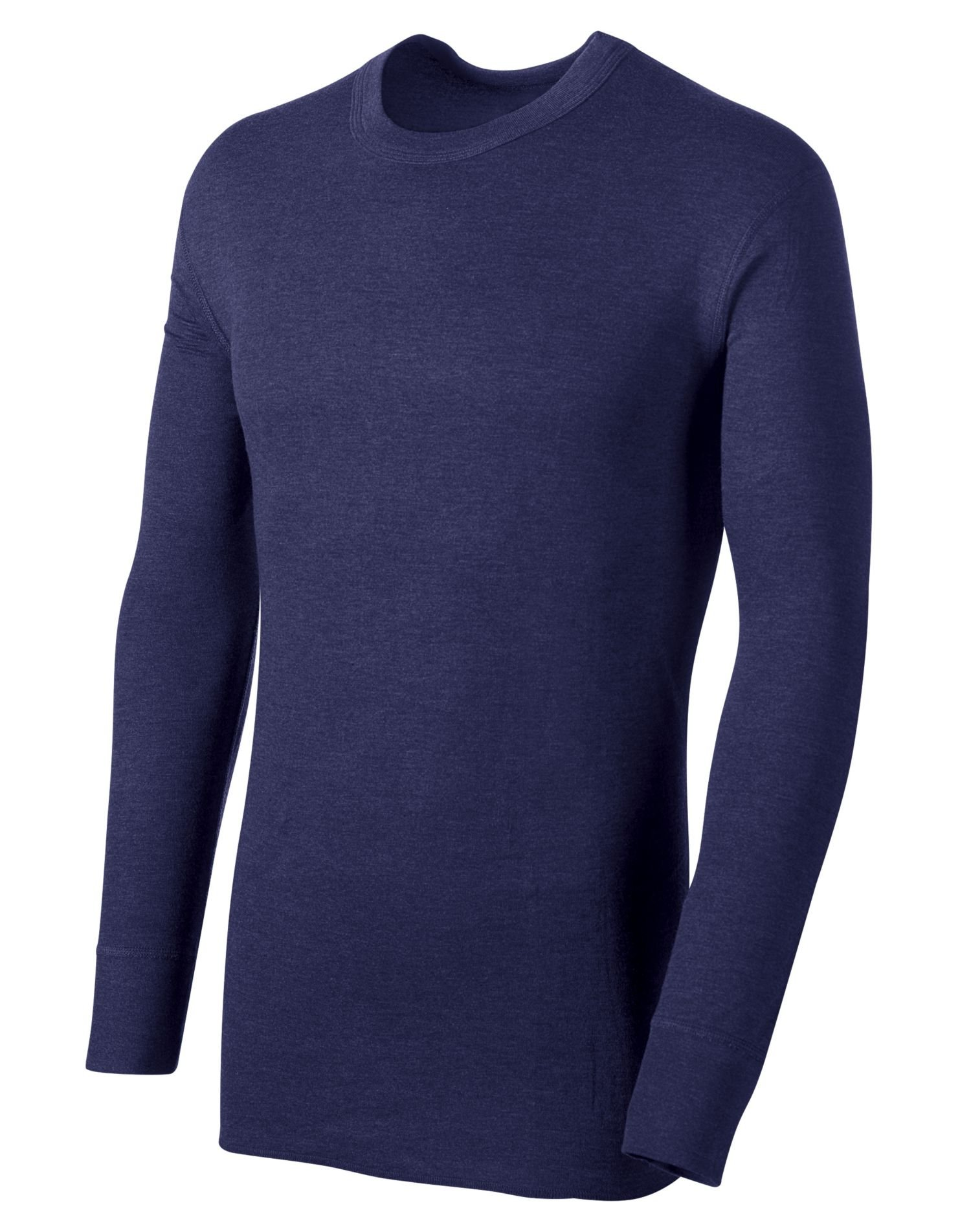 Duofold Men's Midweight Long Sleeve Crew With Moisture Wicking,Navy,Large by Duofold