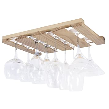 Amazoncom Rustic State 4 Sectional Under Cabinet Wood Stemware
