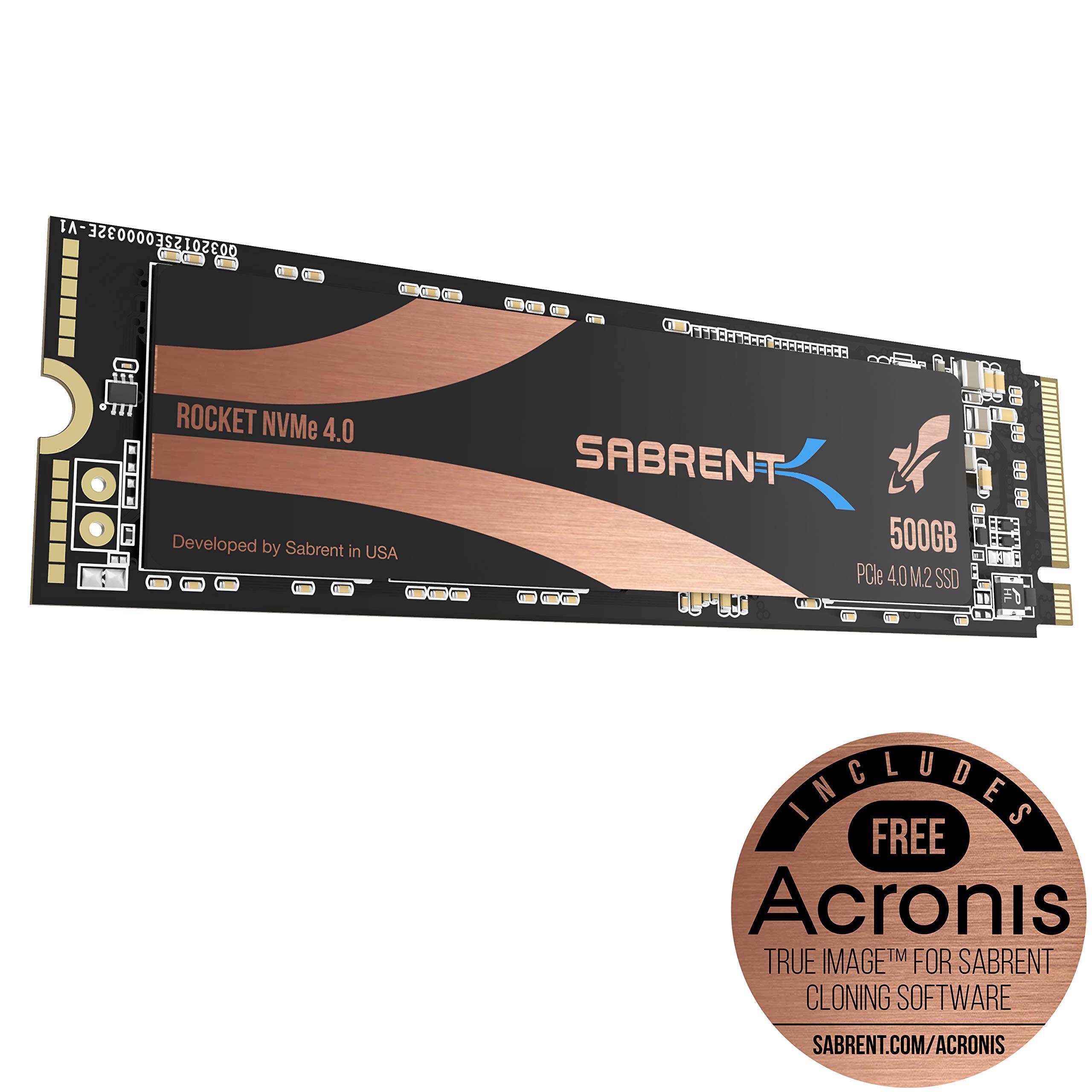 M.2 2280 500GB NVME Sabrent 500GB Rocket Nvme PCIe 4. (PFZK)