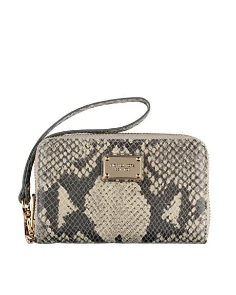 a5016c4d5c9a Michael Kors Essential Zip Wallet Clutch for Apple iPhone (Natural Python)
