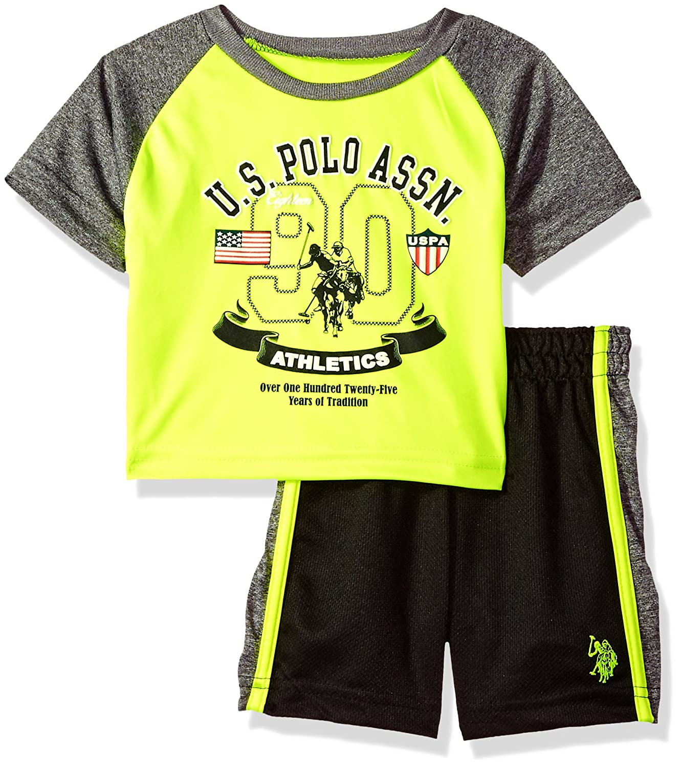 U.S. Polo Assn. Baby Boys T-Shirt and Mesh Short Set