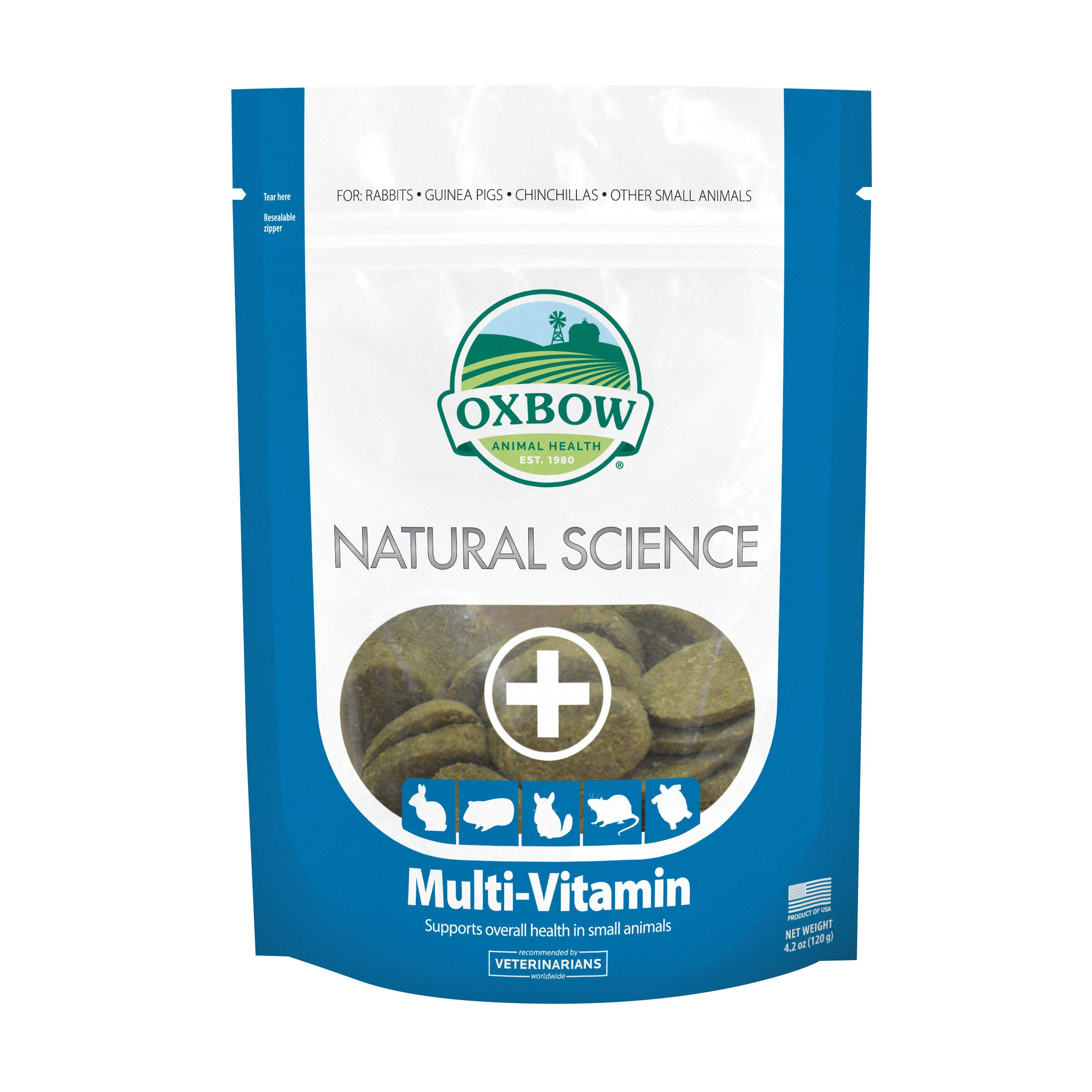 Oxbow Natural Science Multivitamin - Essential Vitamins & Omega 3 and 6 Fatty Acids for Small Animals, 4.2 oz.