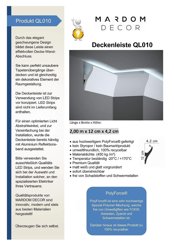Deckenleise f/ür indirekte LED Beleuchtung f/ür eine einzigartige Raumatmosph/äre **Topseller** QL010 Licht Wand