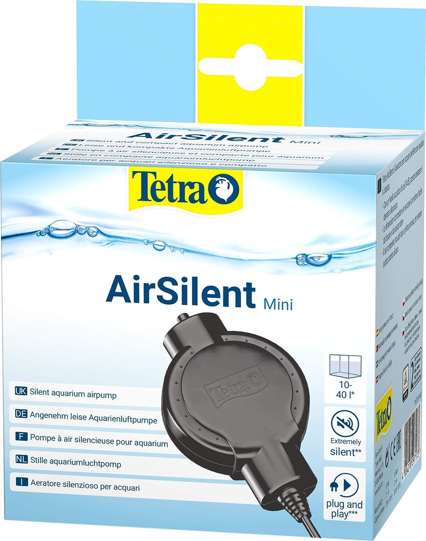 Tetra AirSilent Mini Aeratore per Acquari Silenzioso e Compatto, Set Completo Dotato di Pietra Porosa, 10 a 40 Litri