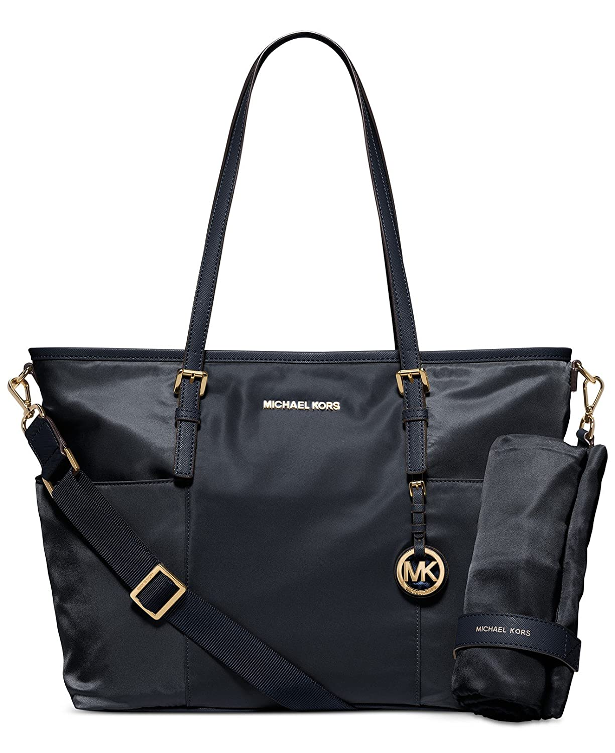 d5e421702b59 Amazon.com   MICHAEL Michael Kors Jet Set Large Nylon Pocket Baby Diaper Bag  (Navy)   Baby