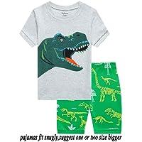 Babyroom Boys Short Pajamas Toddler Kids Sleepwear Summer Clothes Shirts