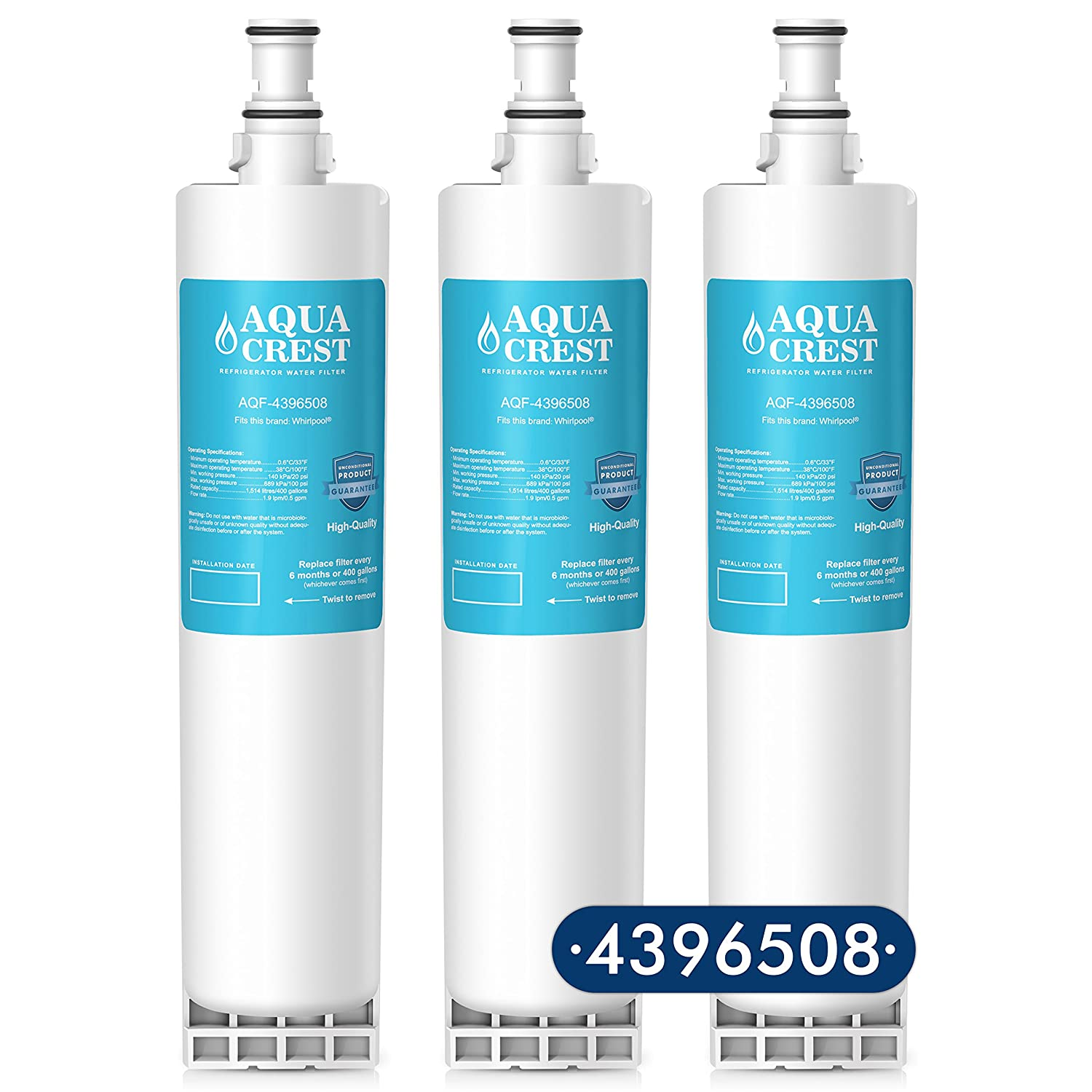 Amazon.com: AQUACREST 4396508 Replacement for Whirlpool 4396508 ...
