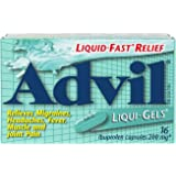 Advil Liqui-Gels  200 mg Ibuprofen, Temporary Pain Reliever / Fever Reducer (16 Count)